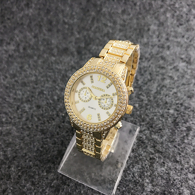 Reloj de oro blanco para mujer