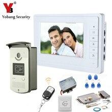 YobangSecurity Video Intercom 7″Inch Door Phone Doorbell Entry System RFID Card Access Control  With Door Lock Remote Controller