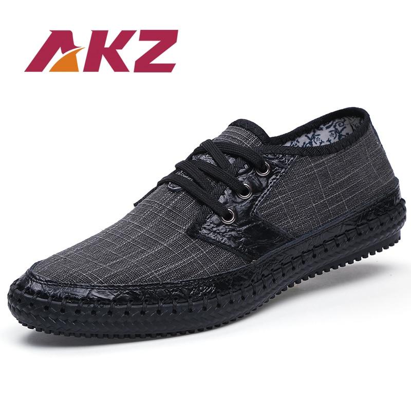 AKZ 브랜드 남자 캐주얼 신발 2018 새로운 봄 여름 마 - 남성용 신발