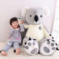 Dorimytrader Big Plush Animal Koala Toy Huge Stuffed Cartoon Koalas Doll Anime Pillow Nice Gifts for Children 120cm 140cm