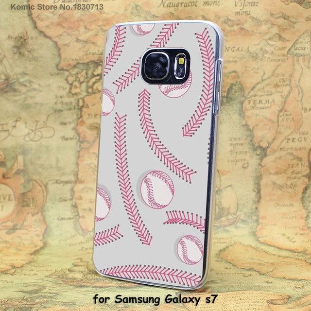 Baseball Hard Case for Samsung Galaxy S4, S5, S6, S7, S8