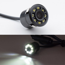 New CCD 18.5mm Wide Viewing Angle Waterproof Car Rear View Camera with 8 LED Night Vision Reversing Assistance