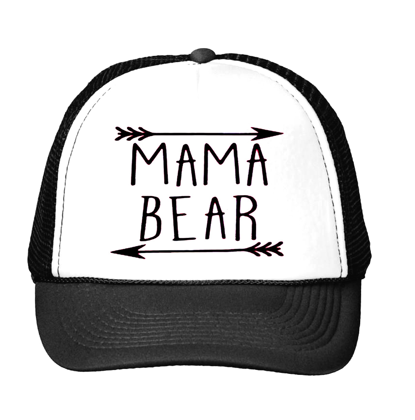 008026204e594 MAMA bear arrow Letters Print Baseball Cap Trucker Hat For Women Men Unisex  Mesh Adjustable Size Drop Ship M 159-in Baseball Caps from Apparel  Accessories ...