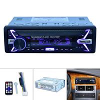 1 Din 12V Digital Bluetooth Car Radio Audio Stereo MP3 Player 7 Color Light Front Detachable