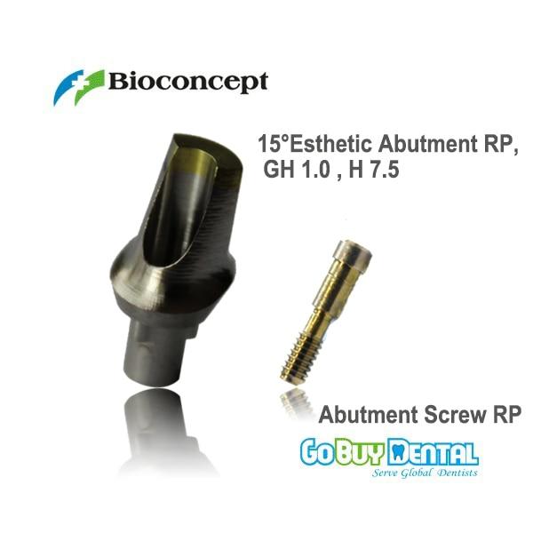 Nobel Compatible  Biocare Replace 15  Esthetic Abutment RP, GH 1.0mm , H 7.5 (432381)Nobel Compatible  Biocare Replace 15  Esthetic Abutment RP, GH 1.0mm , H 7.5 (432381)