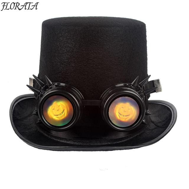 1f6fe7f8e6 Gothic Sunglasses Fashion Frame Lenses Unisex luxury Vintage Sunglasses  Style Steampunk Goggles man Welding Glasses Cosplay