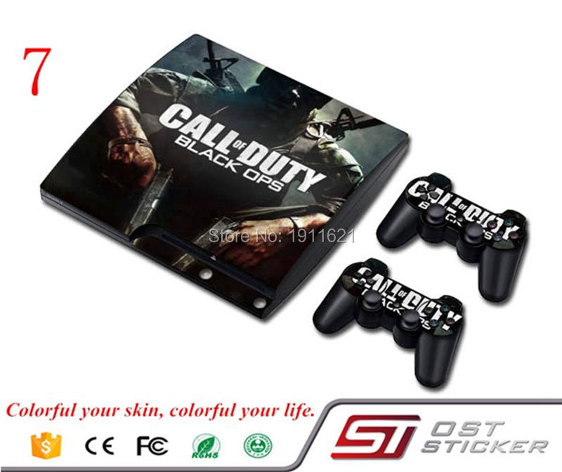 OSTSTICKER Vinyl Decal For PS3 Slim Skin Sticker Cover for Sony PlayStation 3 Console and 2 Controller Skins