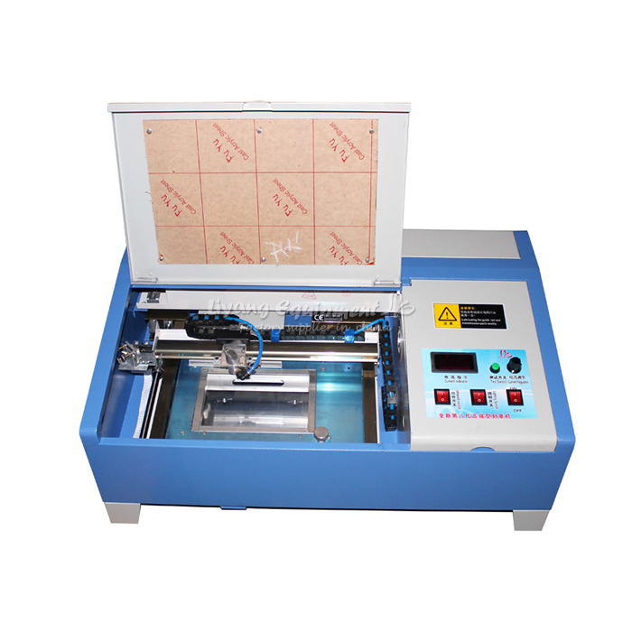 3020 CO2 Digital laser engraving cutting machine engraver 40W with Up Down Control manufacturer 3020 40w mini co2 desktop laser engraving cutting machine