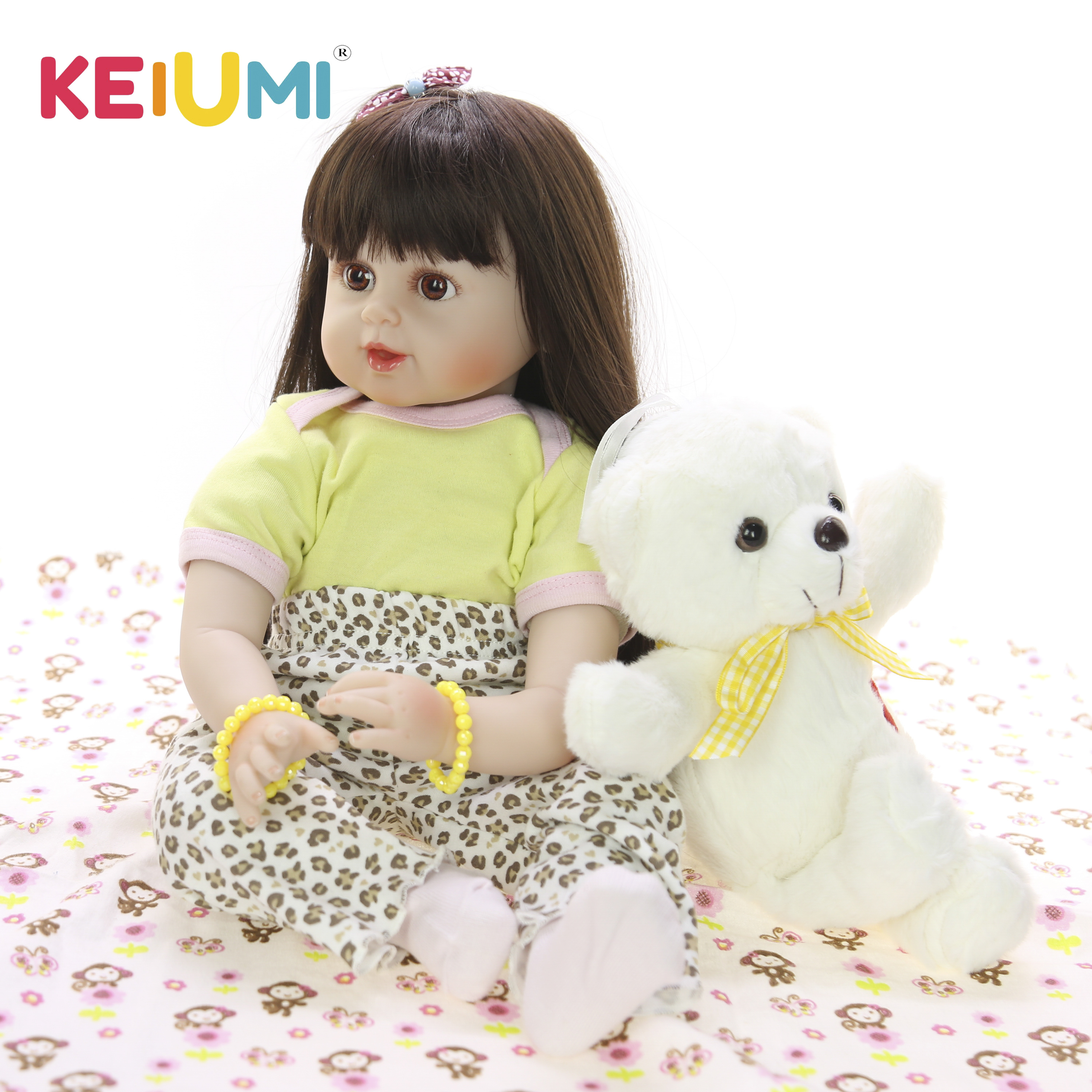 KEIUMI Lovely 24 60 cm Reborn Toy Soft Touch Silicone Vinyl Newborn Doll For Girl Alive Reborn Baby Doll Cloth Body Kids GiftsKEIUMI Lovely 24 60 cm Reborn Toy Soft Touch Silicone Vinyl Newborn Doll For Girl Alive Reborn Baby Doll Cloth Body Kids Gifts