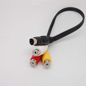 Image 4 - 7 Pin s video męski na 3 RCA żeński kabel do adaptera wideo nowy