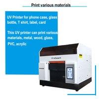 A4 плоской УФ светодиодный принтер рулон лак для дерева УФ принтер с двойными стенками двойные ПХБ, дерева, Стекло