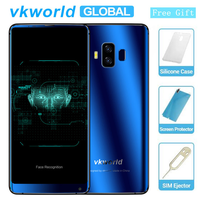 """Original Vkworld S8 5.99"""" 18:9 Display FHD 5500mAh Smartphone Face ID 4GB 64GB MTK6750T Octa Core 16MP Android 7.0 4G CellPhone"""
