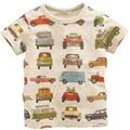 Children Casual Tshirt Cars Print Baby Boy Girl Top Tee T Shirt Short Sleeve Infant Toddlers Kids Cartoon Summer Wearing