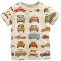 Crianças Carros de Impressão Tshirt Ocasional Top Tee T Camisa Do Bebê Da Menina do Menino de Manga Curta Infantil Das Crianças Das Crianças Dos Desenhos Animados Verão Vestindo