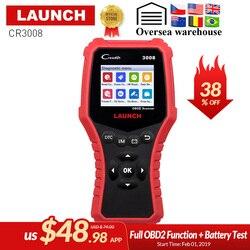 LAUNCH CR3008 OBD2 OBDII Auto Scanner X431 Creader 3008 OBD 2 Engine Code Reader free update PK AD510 KW850 Diagnostic tool
