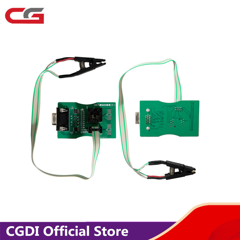 Reading 8 Foot Chip Free Clip Adapter For CGDI Prog For BMW and <font><b>XPROG</b></font> 5.60 /5.74/<font><b>5.84</b></font> and UPA USB ECU Programmer image