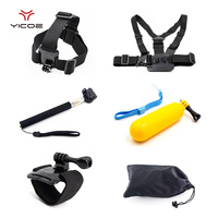 Accessories Set Kit Chest Head Wrist Strap For Gopro 5 4 3 2 1 SJ4000 SJ5000