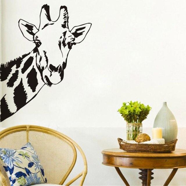 Schöne Giraffe Kopf Wandaufkleber Steuern Dekor wohnzimmer Baby ...