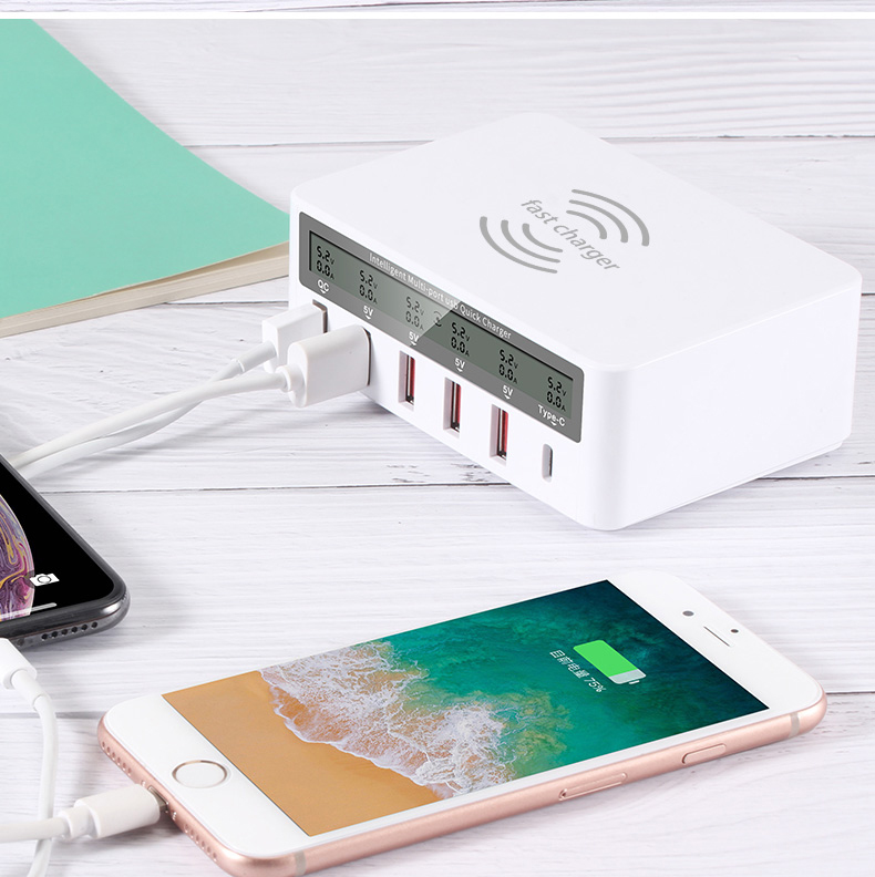 QI Wireless Fast Charger Quick Charge 3.0 USB Type C Charger (16)