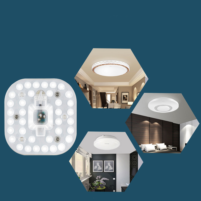 Led ceiling light transformation board circular energy - saving lamp beads Bulb patch single lamp light lamp beads board lan mu led ceiling lamp octopus light
