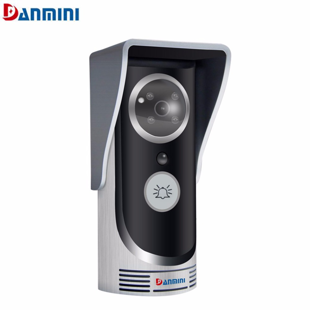 Danmini Wireless Visual Doorbell PIR Motion Detection Waterproof WIFI Video Doorbell Infrared Night Vision Lights kinco wifi remote control night vision video doorbell hd waterproof dtmf motion detection alarm smart home for smartphone