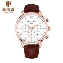 HOLUNS JY002 Watch Geneva Brand Chronograph watches men's business casual large multi needle quartz watch thin relogio masculino
