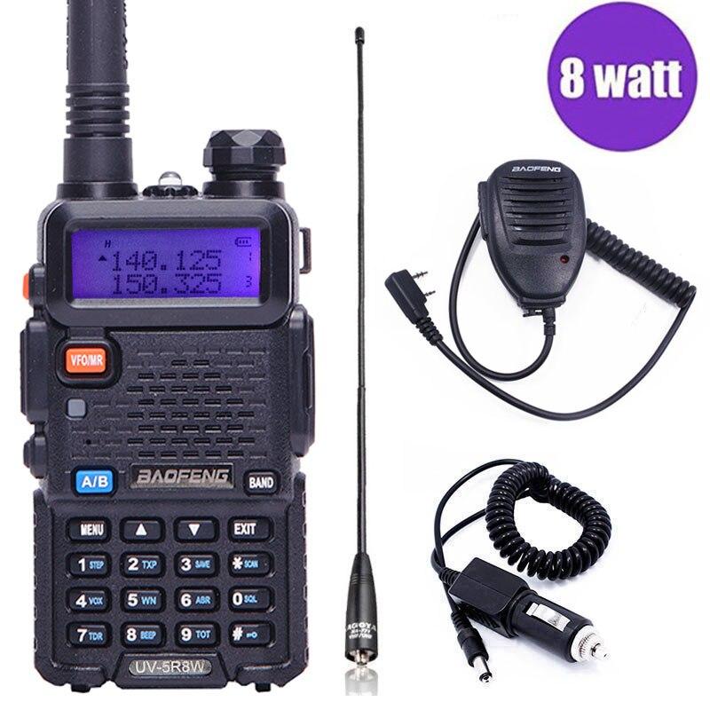 Baofeng UV-5R 8 w Haute Puissance Puissant talkie walkie à Deux Voies Radio 8 Watts cb portable radio 10 km longue gamme pofung UV5R Chasse