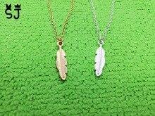 Здесь можно купить  10PCS- N053 Feather necklace Olive leaf necklace Nature Pot Tree Leaf necklace vine necklace plant Tree fallen leaves Necklace