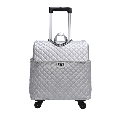 Famous Brand Vintage Suitcase Wheels Rolling Luggage Men Cabin Travel Bag Women Leather Travel Trolley Bag