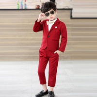 2018 2pieces(Coat+Pants) Boys Suits Weddings Kids Prom Suits Children Clothes Set Party Clothing Baby Boy Formal Classic Costume