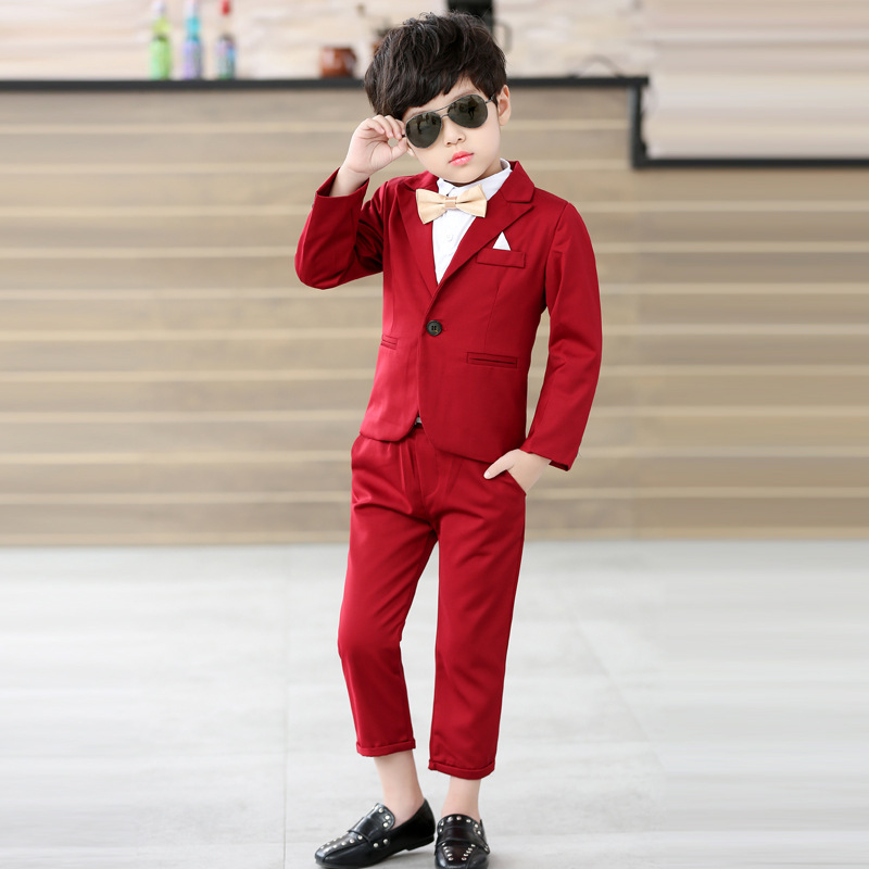 2019 2pieces(Coat+Pants) Boys Suits Weddings Kids Prom Suits Children Clothes Set Party Clothing Baby Boy Formal Classic Costume