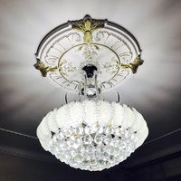 Modern Crystal Chandelier Lighting Chrome Lustre Led K9 Gold Crystal Chandelier Bedroom Living Room Pendant Ceiling