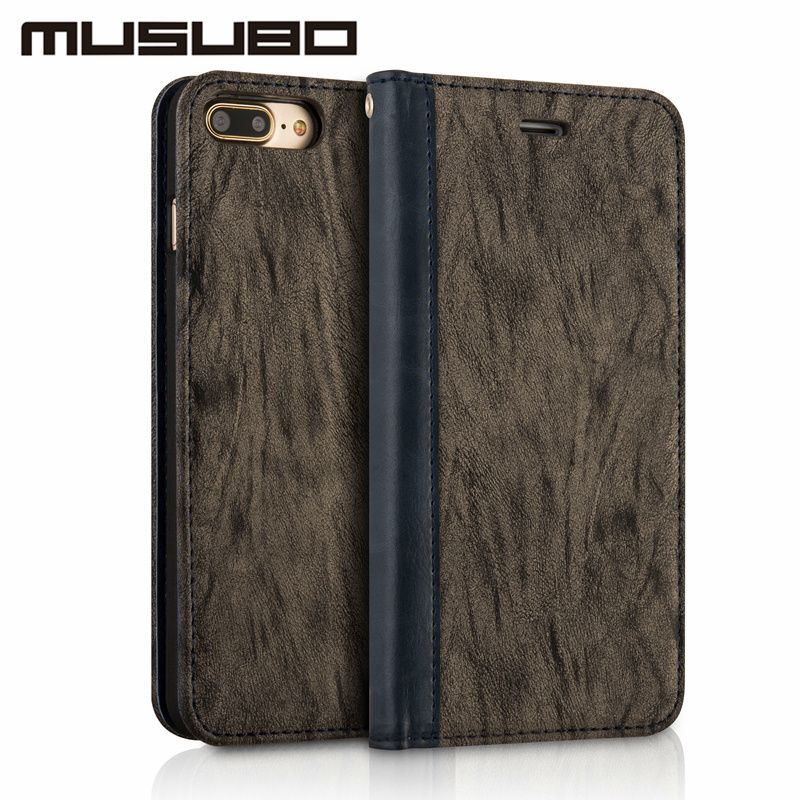 Musubo Luxury Case For iphone 8 Plus 7 Plus 6 6s Wallet Leather Flip Stand Cover for Samsung Galaxy S8 Plus Cases capa coque S8P