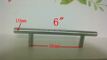 (Diameter 10mm,Length:150mm) 6″ Furniture Hardware Kitchen Cabinet Handle T Bar Pull Stainless Steel Handle