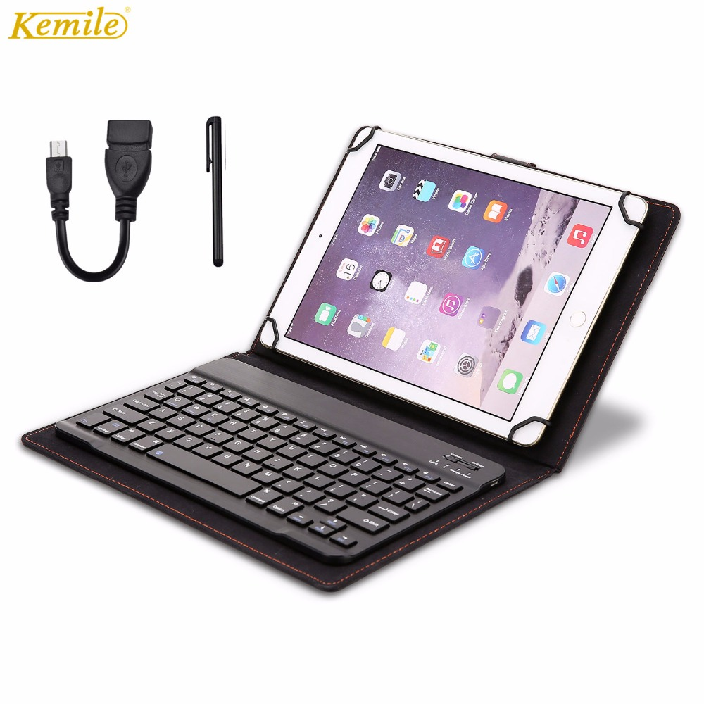Kemile Universal Magnetic Leather Case Wireless Bluetooth 3.0 Keyboard for Huawei MediaPad T3 10 AGS-W09 AGS-L09 Tablet Keyboary universal 61 key bluetooth keyboard w pu leather case for 7 8 tablet pc black