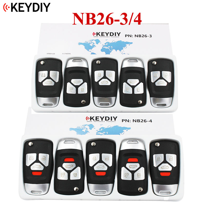 5PCS Multi functional Universal Remote Key for KD900 KD900 URG200 NB Series KEYDIY NB26 4 3