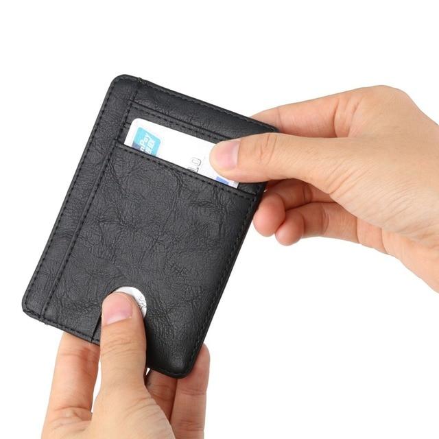 THINKTHENDO Slim RFID Blocking Leather Wallet Credit ID Card Holder Purse Money Case for Men Women 2020 Fashion Bag 11.5x8x0.5cm 6