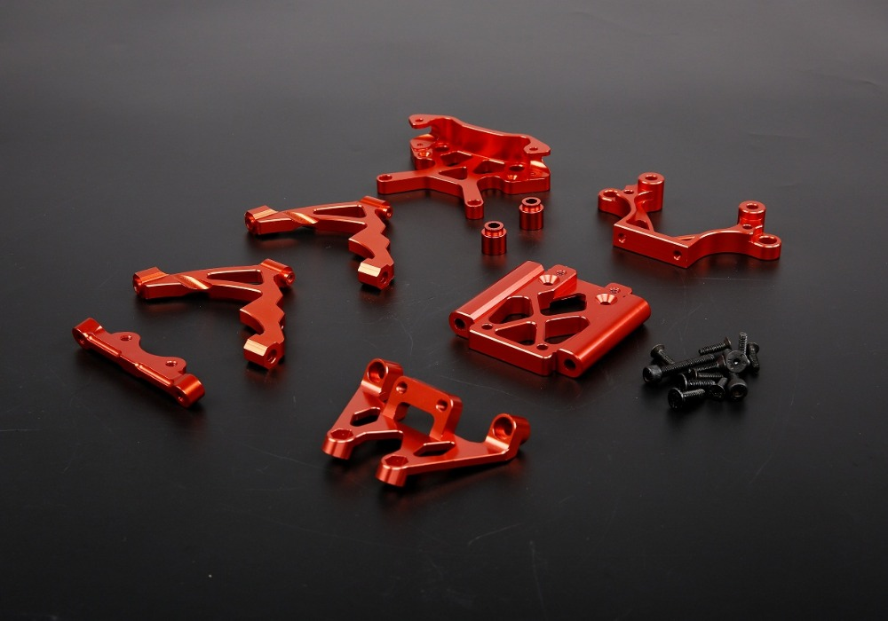 CNC alloy front bulk head kit set for 1/5 scale HPI KM RV Baja 5B 5T 5SC upgrade spare part alloy front bulk head set for 1 5 hpi km rv baja 5b 5t 5sc baja parts rc parts