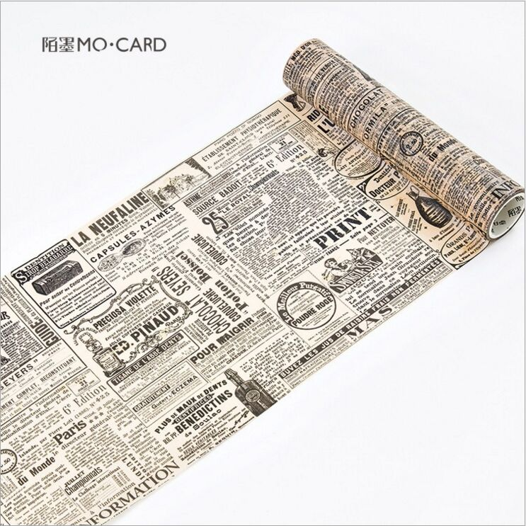 200mm wide Vintage Newspapers Modern Times Decorative Washi Tape DIY Planner Diary Scrapbooking Album Masking Tape Escolar 200mm wide vintage city sculpture holiday travel diary decorative washi tape diy planner scrapbooking album masking tape escolar