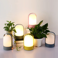 Creative Night Light children gift Bedside Table Lamp LED Energy Bookcase Home Decor Light Silicone EU/US/AU plug Touch Control