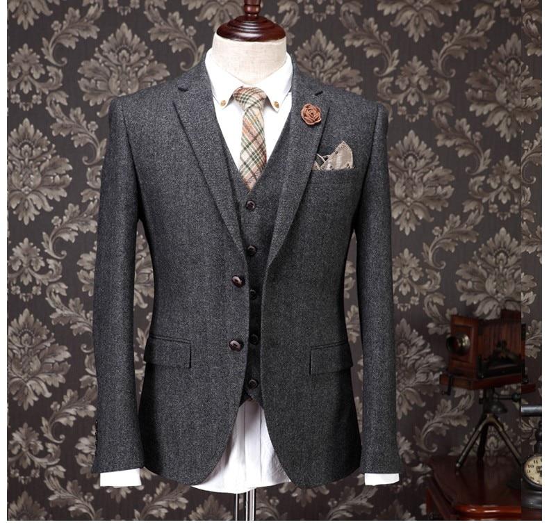 Popular Mens Grey Wool Suits-Buy Cheap Mens Grey Wool Suits lots ...
