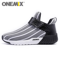 New Style High Men S Boots Black White Running Shoes Light Comfortable Walking Shoes Men S