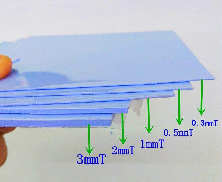 200*400mm 0.5/1.0/2.0/3.0/4.0/5.0mm High Thermal Conductivity Thermal Pads 3.6W GPU CPU Heatsink Cooling Conductive Silicone Pad