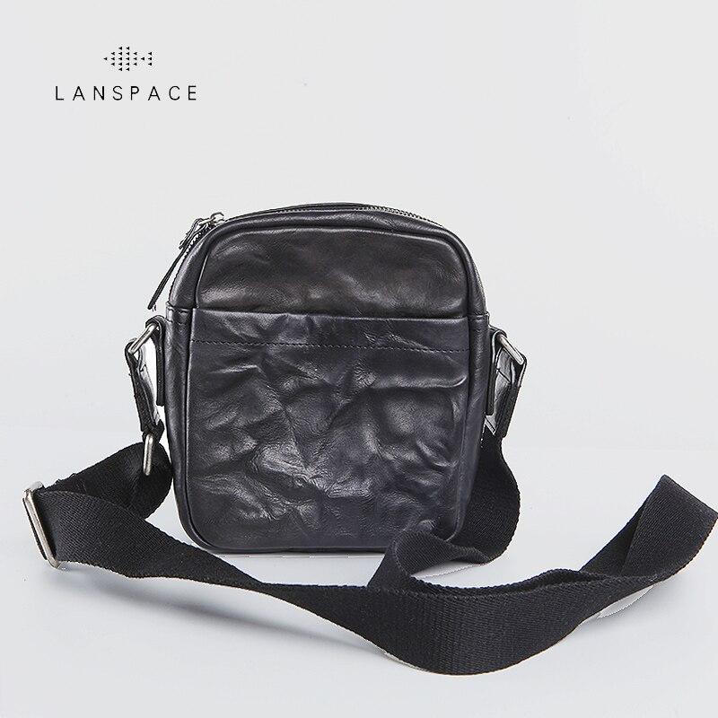 LANSPACE mens leather shoulder bag handmade fashion casual mens messenger bagsLANSPACE mens leather shoulder bag handmade fashion casual mens messenger bags