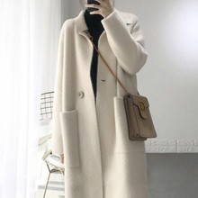 mink jacket winter long fur coat