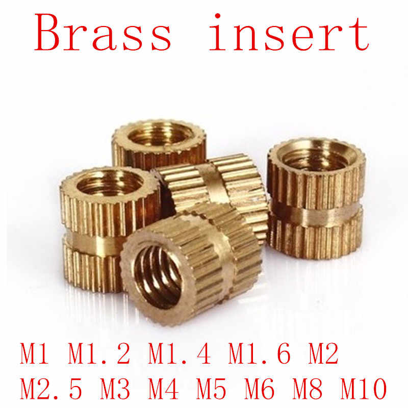 100pcs/50pcs/10pcs M1 M1.2 M1.4 M2 M2.5 M3 M4 M5 M6 M8 M10  Brass insert nut Injection Molding Brass Knurled Thread Inserts Nuts