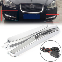 2pcs White LED Daytime Running Lights DRL Fog Light Lamp For Jaguar XF 2008 2009 2010 Car Auto Parts Accessories