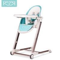 Aluminiowa Rama Babyruler Regulowany Przenośny Wysokiej Sandalyesi Mama Noworodka jedzenia Dla Dziecka jadalnia Krzesło stół Krzesło dla dzieci