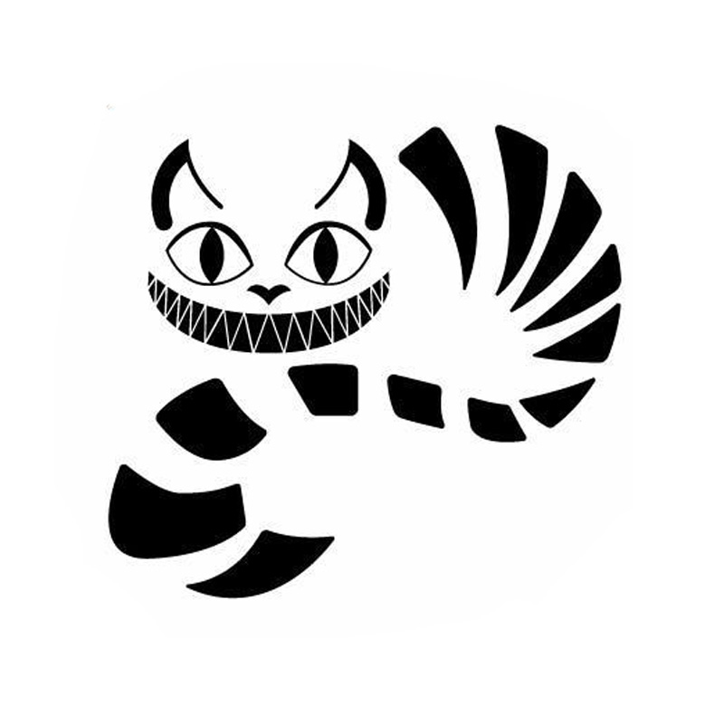 Cheshire Cat Smile artoon Car Bumper Sticker Decal 5 X 5
