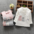 2016 Autumn and Winter Casual Gilrs Boys Baby Children Infant,baby Long-sleeved Bow Cute Warm Princess Shirt